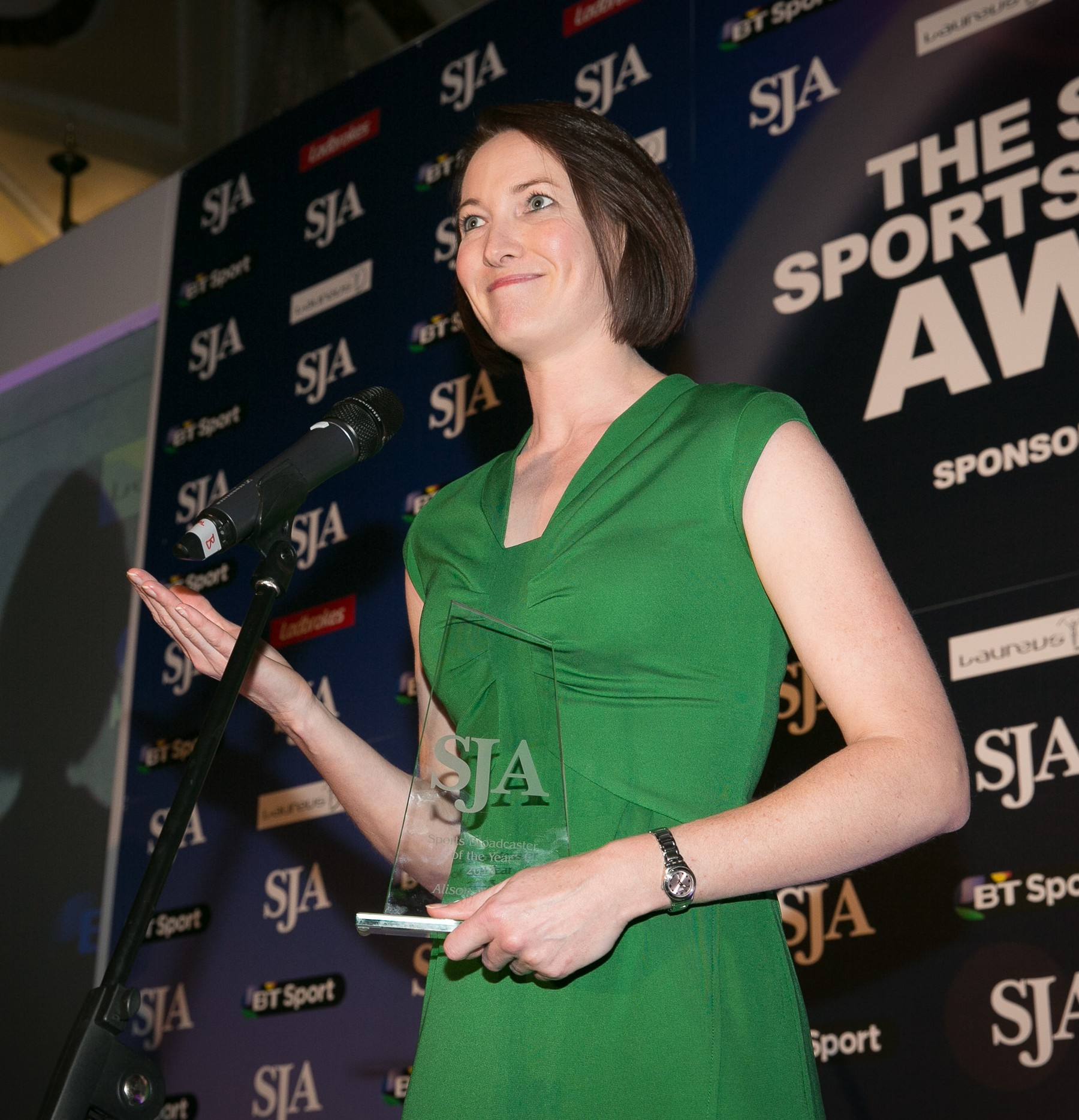 BBC Radio's Alison Mitchell was the SJA's Sports Broadcaster of the Year for 2013. In 2014, she an other top broadcasters are invited to enter their work