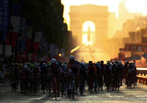The final stage of the 2013 Tour de France arrives on the Champs-Elysees