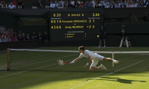 2013 was notable, of course, for Andy Murray's Wimbledon win. This picture was taken by a past Sports Photographer of the Year, Edward Whitaker, of the Racing Post