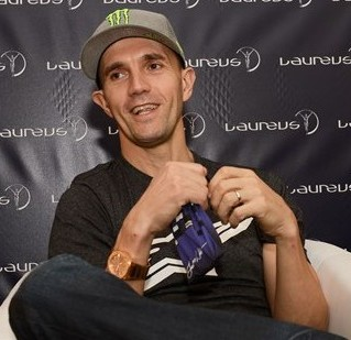 BMX rider Jamie Bestwick interviewed at the Laureus Awards in Kuala Lumpur this week