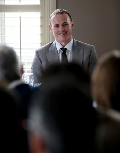 Quietly confident: George Groves at the SJA's sports media lunch yesterday. Photograph by Scott Heavey/Getty Images