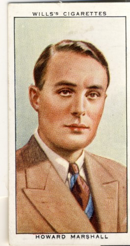 BBC commentator Howard Marshall was so celebrated he even appeared on a cigarette card in the 1930s