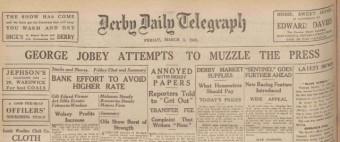 Journalist ban headline