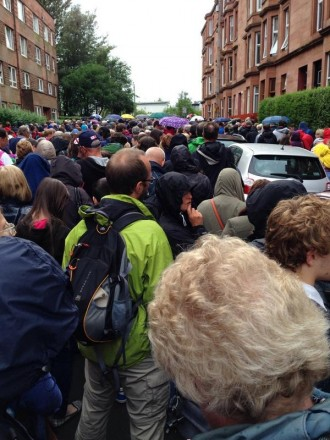 The athletics crowds exiting Hampden on Sunday night: imagine what it might be like after tonight's 100 metres hot ticket