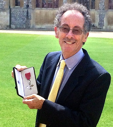 Sports photographer Mark Shearman MBE after his investiture last month. Picture: Chrissie Shearman