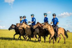 It may look like a Pony Club outing, but the Mongol Derby bills itself as the world's toughest horse race