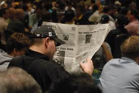 Reading the sports pages