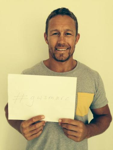 World Cup-winner Jonny Wilkinson gave the #GWS campaign a big boost