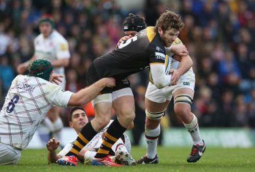 Tackled: Wasps' move to Coventry has caused controversy with the local newspaper and council