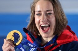 Golden smile: Lizzie Yarnold, Olympic champion