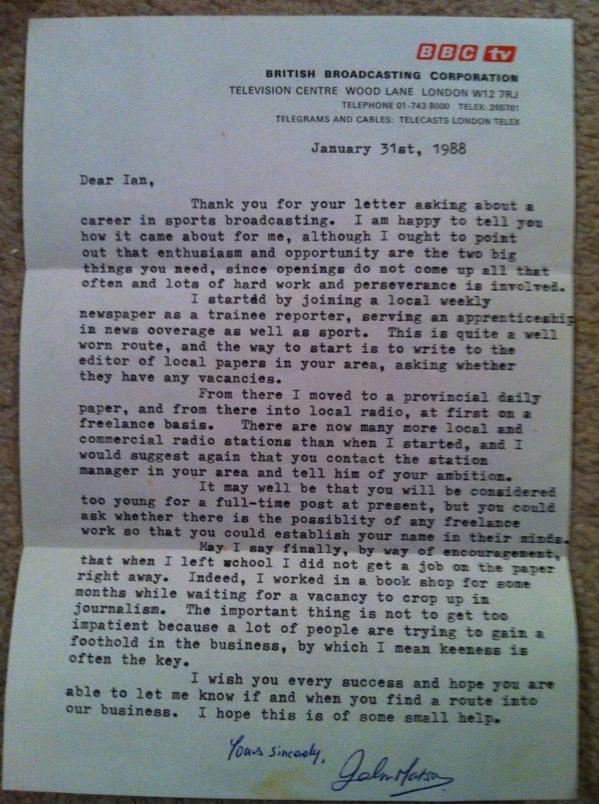 Motson letter