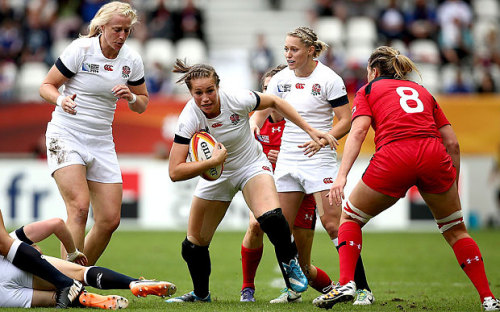 Outstanding: England's Emily Scarratt was a match-winner in the World Cup final and the tournament's outstanding player