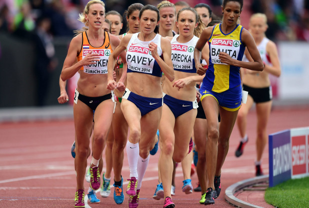 Has she gone too soon? Jo Pavey's tacical approach in Glasgow and in Zurich, above, had Sarah Juggins worried