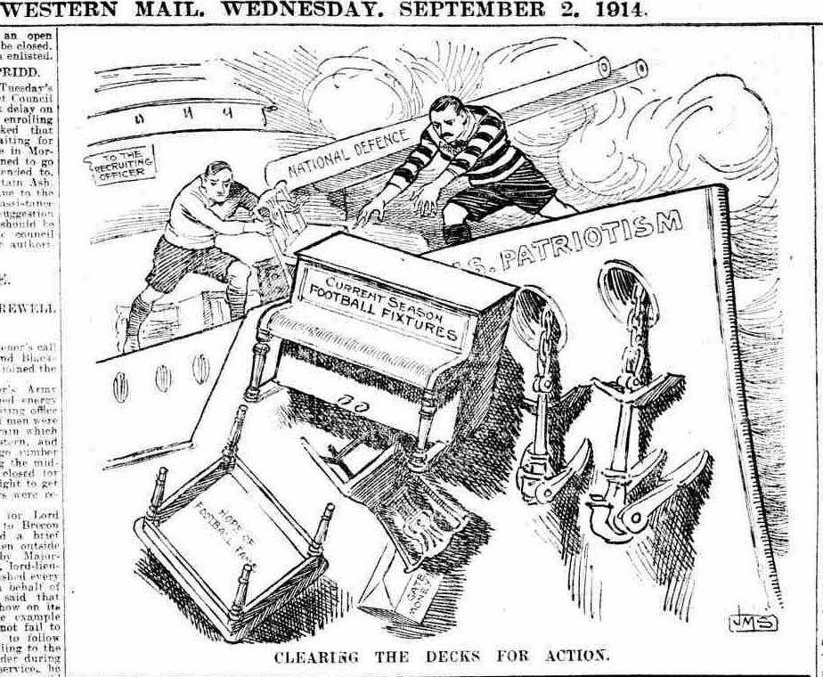 A cartoon from the Western Mail in late 1914