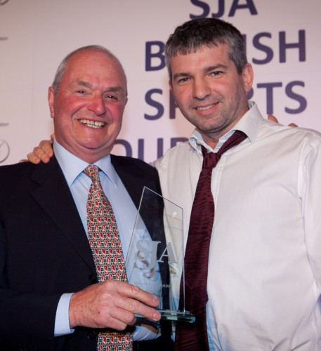 Oliver Holt receives the SJA Columnist of the Year Award in 2011 from Tom Clarke