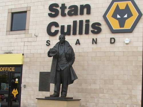 The statue at the modern Molineux of Stan Cullis, the Wolves manager in 1954. He denied ever claiming his side were world champions