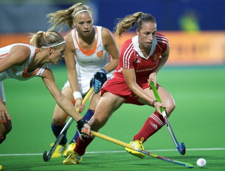 PLayer of the year: Susannah Townsend, in red, won the HWC's vote