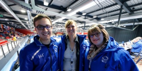 Trainee journalists working at World Curling's media programme last year.