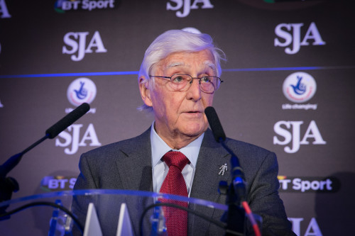 Sir Michael Parkinson, the SJA President. The British Sports Journalism Awards on March 23 will be his final event after a decade of leadership of the Association