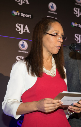 Helen Grant, the Minister for Sport, making one of the presentations at December's British Sports Awards