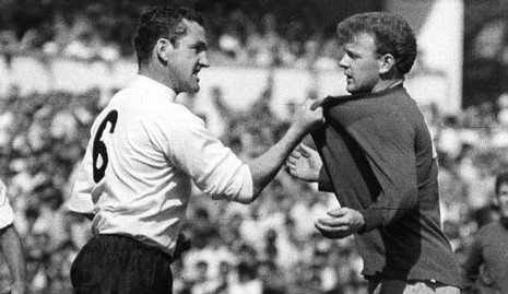 An iconic piece of sports photography as Mackay squared up to Billy Bremner. But Mackay disliked the image it portrayed
