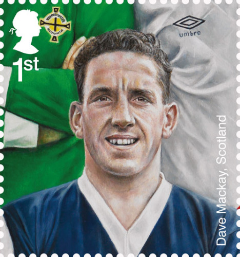 Mackay was chosen as representative of Scottish football when Royal Mail did a set of football stamps
