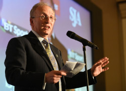 SJA Chairman David Walker at last year's British Sports Journalism Awards