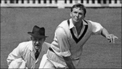 Impressive bowler: Benaud's leg-spin won many Tests for Australia and influenced Shane Warne