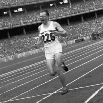 Chris Brasher winning his Olympic gold in 1956. He was later President of the SJA, and this weekend marks 35th London Marathon, the race he founded