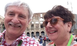 Giller and his partner, Jackie, visit one of the world's oldest sporting venues in Rome