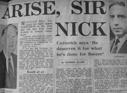 How Norman Giller campaigned for a knighthood for Bill Nicholson in the Express nearly half a century ago