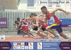 One of the circulation-boosting special editions published in Hersey during the Island Games last week