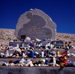 The Tommy Simpson memorial on Mount Ventoux, which Peter Bryan helped raise funds to create