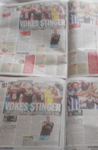 Another set of identical pages from the Sunday Mirror and Sunday People