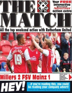 How the Rotherham Advertiser's weekly online football magazine appears