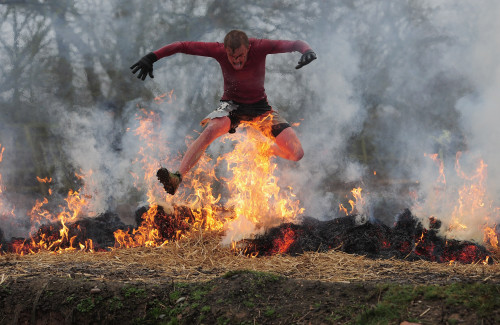 Jamie McDonald's photography for Getty Images was often outstanding, such as this image from one of the Tough Guy races
