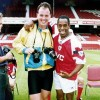 Mike King, who died last week, pictured here when at the peak of his career, having done a shoot at Arsenal with Ian Wright