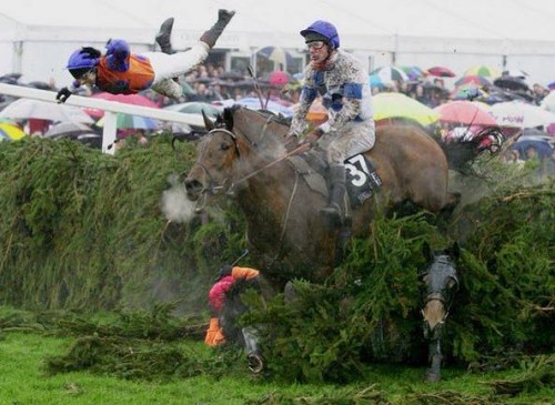 Possibly Mike King's favourite picture, and the one that won him several awards, from the 2001 Grand National