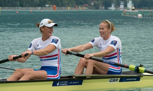 Heather Stanning, left, and Helen Glover, who retained their world title with a such ease it was like a training row