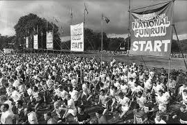 The Sunday Times National Fun Run was the sporting precursor of the London Marathon and Great North Run