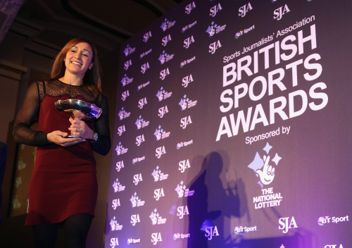 Jessica Ennis-Hill takes award our Sportswoman of the Year trophy for a fourth time