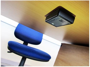 Have you checked under your desk? The motion sensor installed at the Telegraph this week.