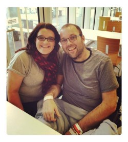 Gary and Gemma Carter pictured in hospital in the past week
