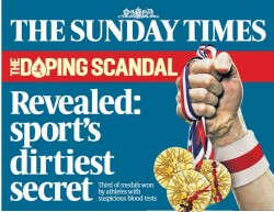 The Sunday Times Insight team has been shortlisted for two awards for its athletics doping investigation