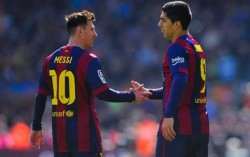 What a double act: but Messi and Suarez owe their penalty trick to Plymouth Argyle. Apparently