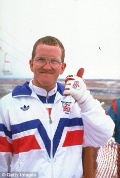 Olympic athlete Eddie Edwards in 1988