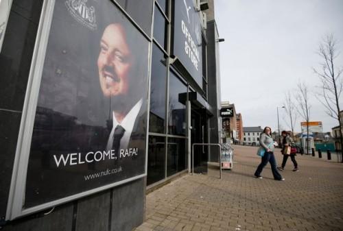 Rafa Benitez poster Newcastle