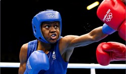 Knock-out: Nicola Adams on her way to Olympic glory in 2012. But what's happened for women's sport since?