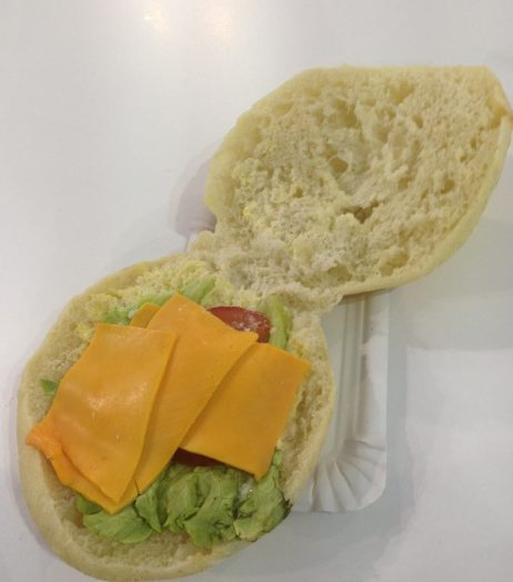 French cuisine: Hack's cheese sandwich (or what passed for a cheese sandwich) in the press centre