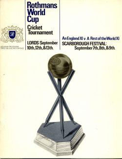 The official programme for the matches in the 1966 World Cup... the Cricket World Cup